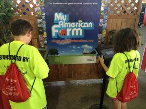 Kids Playing My American Farm Kiosks